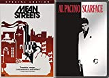 Savage Gangster Movie Classics: Mean Streets + Scarface Mob Feature 2 Films DVD Pacino & De Niro Bundle