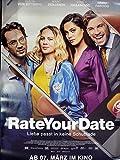 Rate Your Date - Alicia von Rittberg - Filmposter 120x80cm gerollt