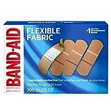 Band-Aid Brand Flexible Gewebebandagen für Wundpflege und Erste Hilfe, Einheitsgröße, 100 Stück