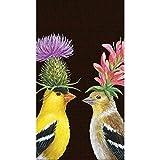 Paperproducts Design Design mit Die Kunst der Vicki Sawyer Distelfink Paar Hohe Qualität Gästehandtücher aus Papier, multicolor