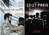 Clint Eastwood's Real Life American Heroes Collection: American Sniper & The 15:17 To Paris (Double Feature Film 2 DVD Bundle