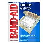 Band-Aid Erste Hilfe Pads, Klebebinde, große Klebepads, 10 Stück