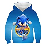3D Sonic Sweat-Shirts Pullover Kapuzenpullover Für Jungen Mädchen Anime Pattern Jacke Pulli Hoodies Sweatshirts Cosplay Manches Longues Tops