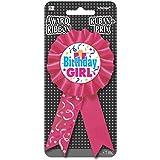 amscan Schleife zum Anstecken - Birthday Girl