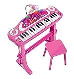 Simba 106830690 - My Music World Standkeyboard / 31 Tasten / mit Licht und Sound / 55cm / Pink