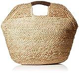 PIECES Damen Pccharlie Straw Bag Tasche, Beige (Nature), 2x51x42 cm (B x H x T)