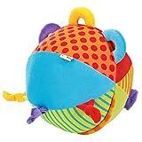 Solini Stoffball / Kinderspielzeug / Activity-Ball weich / Glocke / Baby Sinnesstärkung / bunt