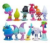 Trolls, 12 pcs Spielset mit Poppy, Kuchendekorationen Troll Figuren Actionfiguren.