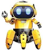 SELVA Spider Robot, Roboter-Bausatz, 107-teilig, DIY, mit Sound- und Lichteffekten, 360°-Drehmöglichkeit, für Erwachsene und Kinder (ab 8 Jahren)