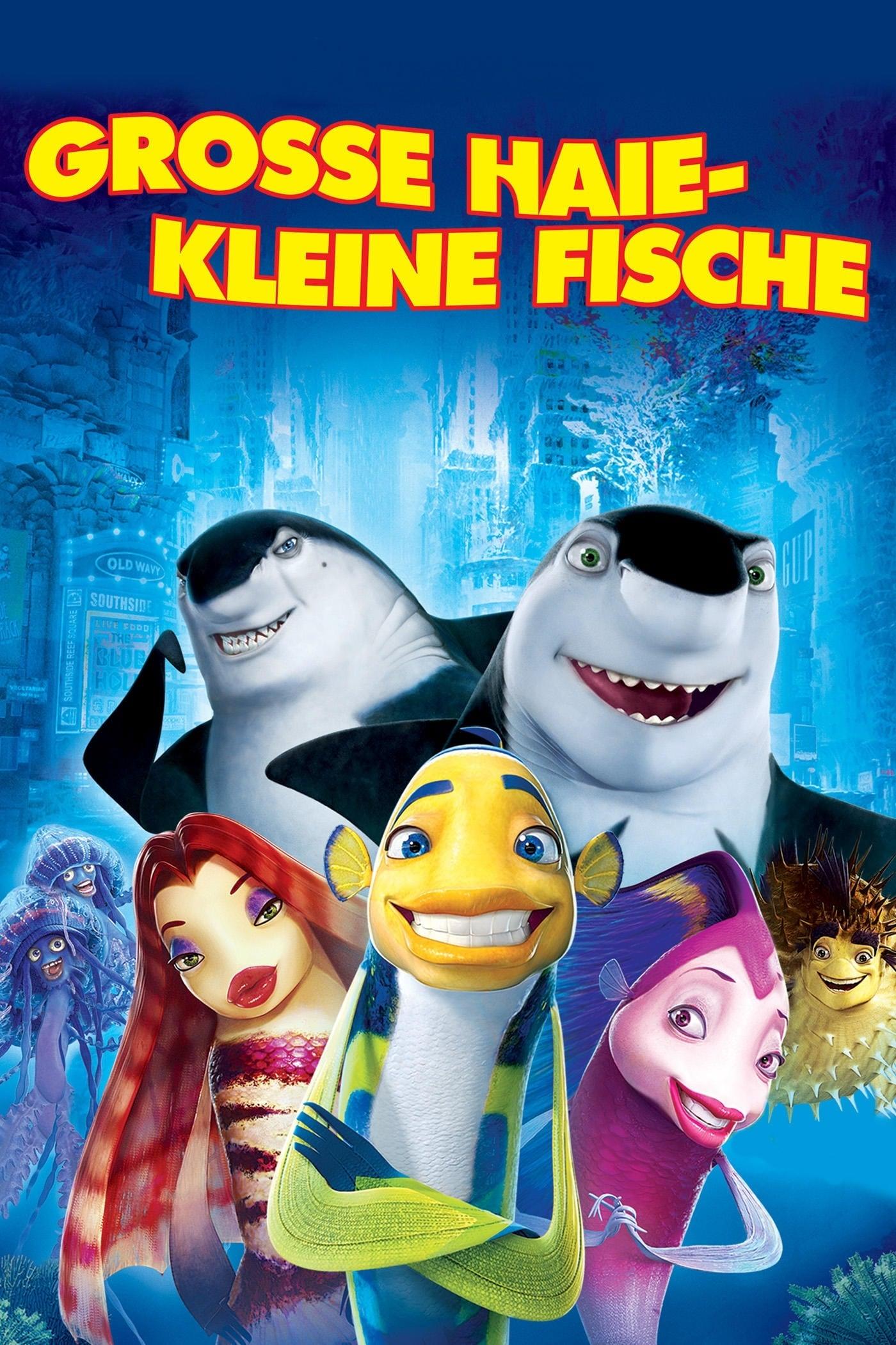 """Plakat von """"Große Haie - Kleine Fische"""""""