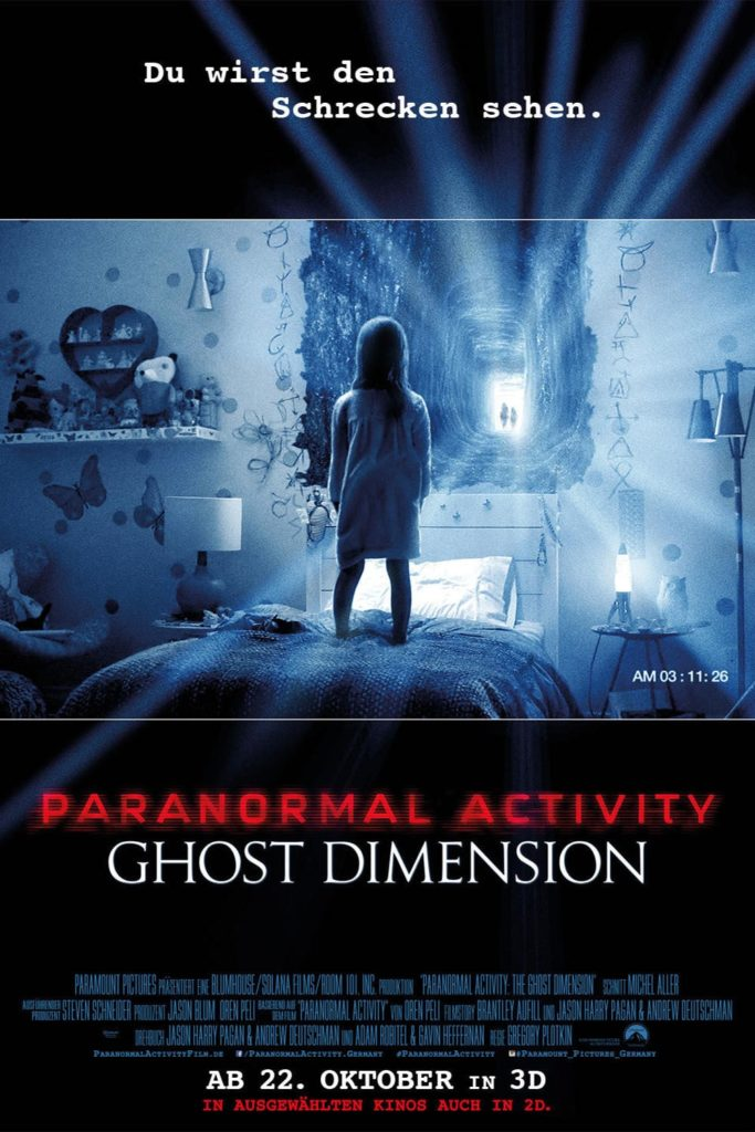 "Plakat von ""Paranormal Activity: Ghost Dimension"""