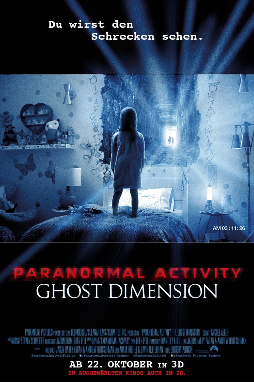 """Plakat von """"Paranormal Activity: Ghost Dimension"""""""
