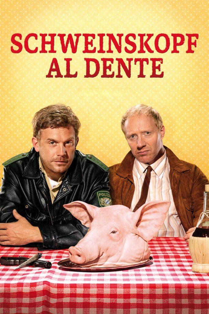 """Plakat von """"Schweinskopf al dente"""""""