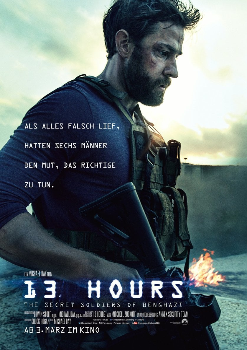 "Plakat von ""13 Hours: The Secret Soldiers of Benghazi"""