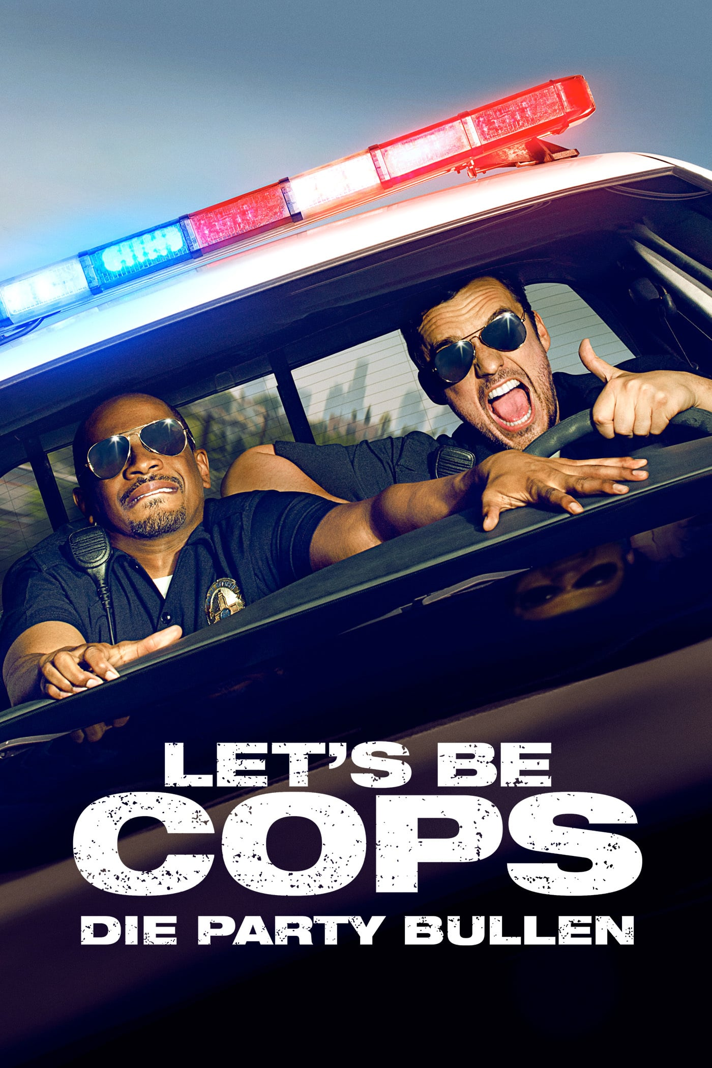 "Plakat von ""Let's be Cops - Die Party Bullen"""