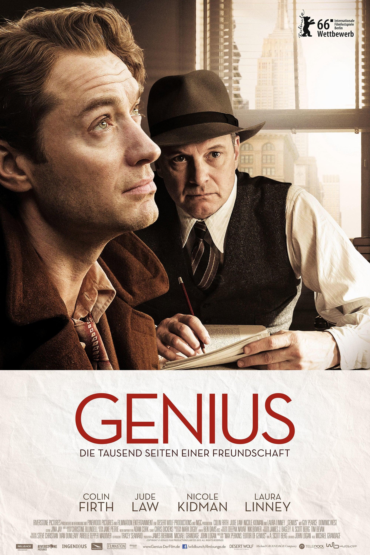 """Plakat von """"Genius - Die tausend Seiten einer Freundschaft"""""""