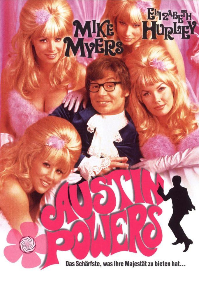 """Plakat von """"Austin Powers - Das Schärfste, was Ihre Majestät zu bieten hat"""""""
