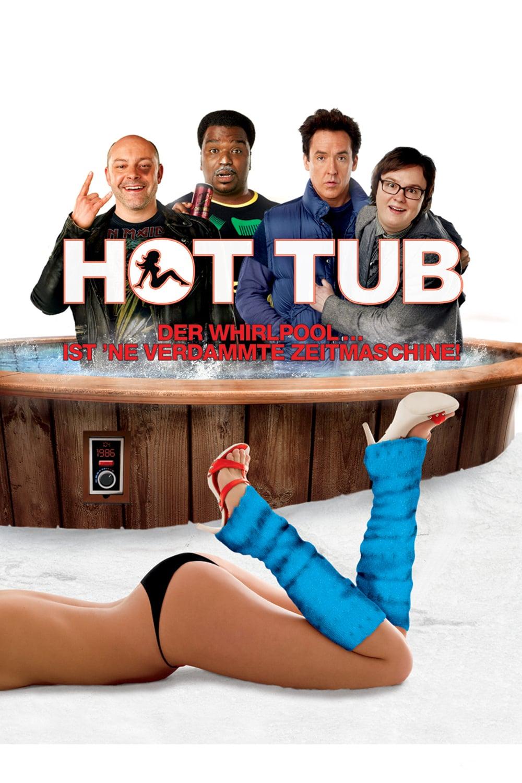 """Plakat von """"Hot Tub - Der Whirlpool... ist 'ne verdammte Zeitmaschine!"""""""