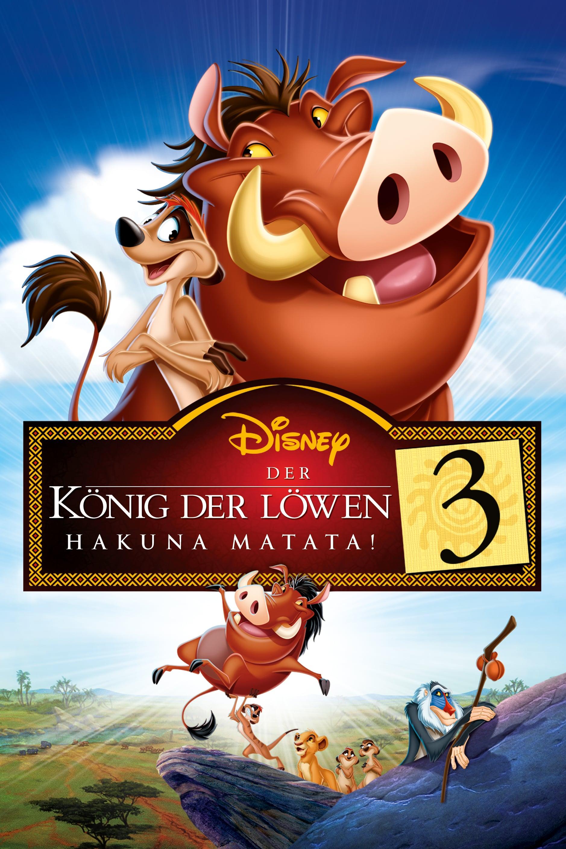 """Plakat von """"Der König der Löwen 3 - Hakuna Matata"""""""
