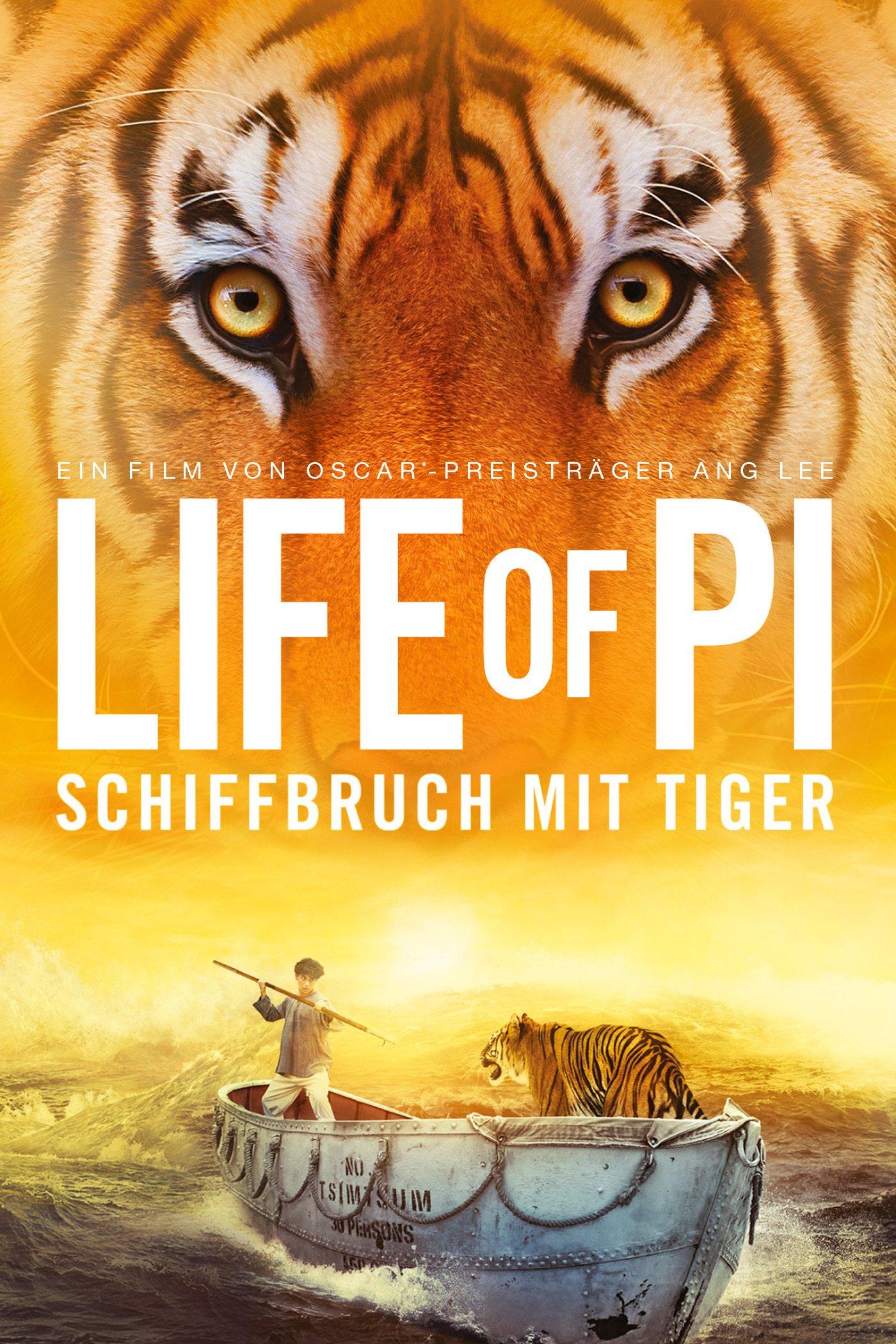 """Plakat von """"Life of Pi - Schiffbruch mit Tiger"""""""