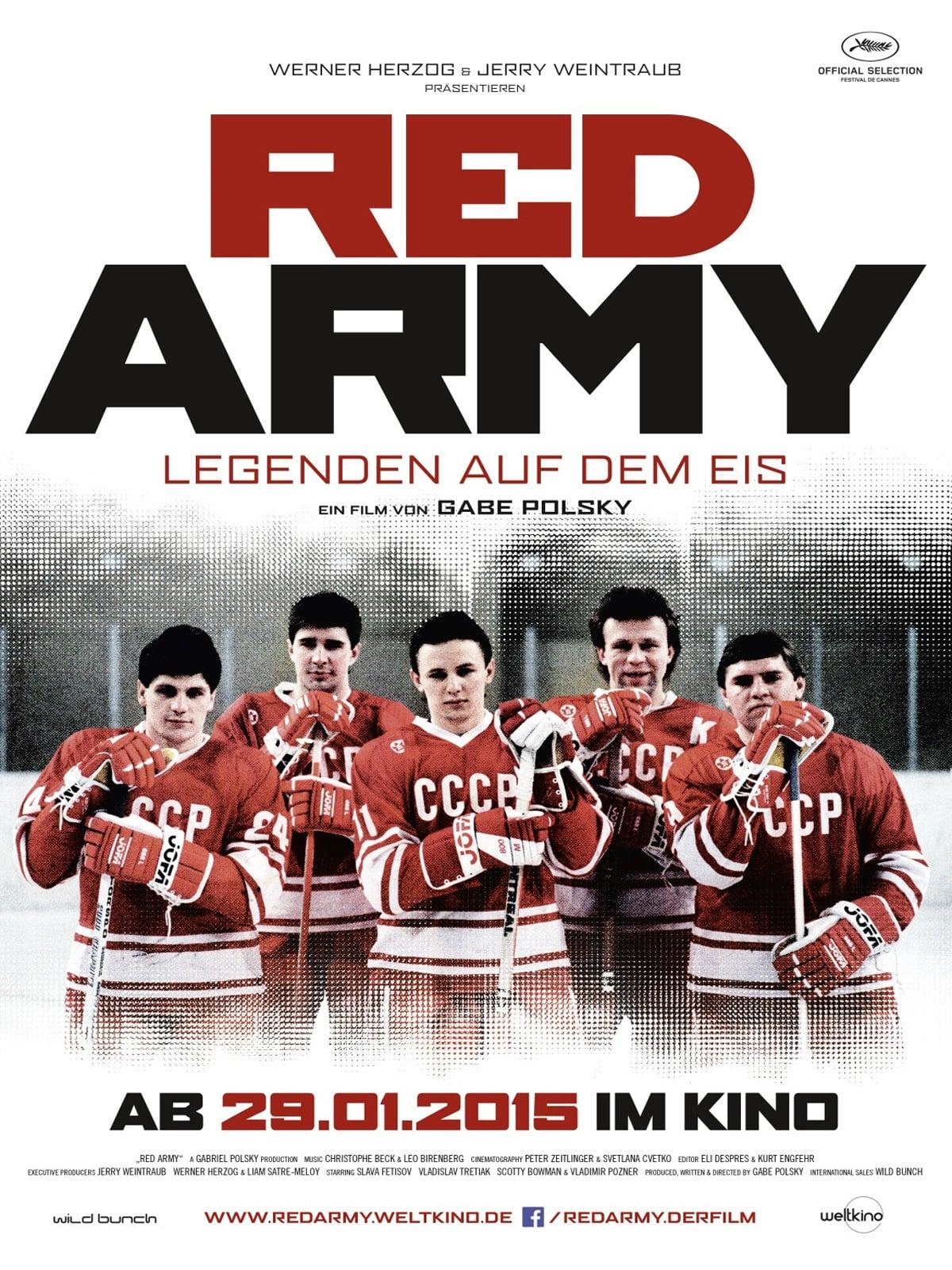 """Plakat von """"Red Army - Legenden auf dem Eis"""""""