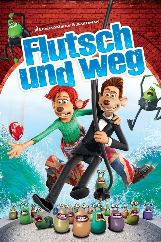 """Plakat von """"Flutsch und weg"""""""