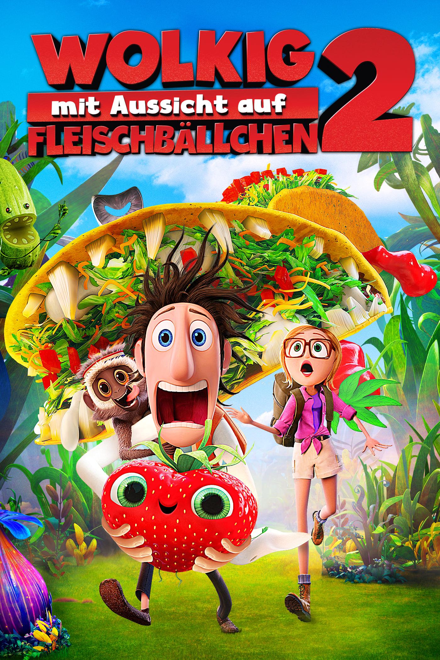 """Plakat von """"Wolkig mit Aussicht auf Fleischbällchen 2"""""""