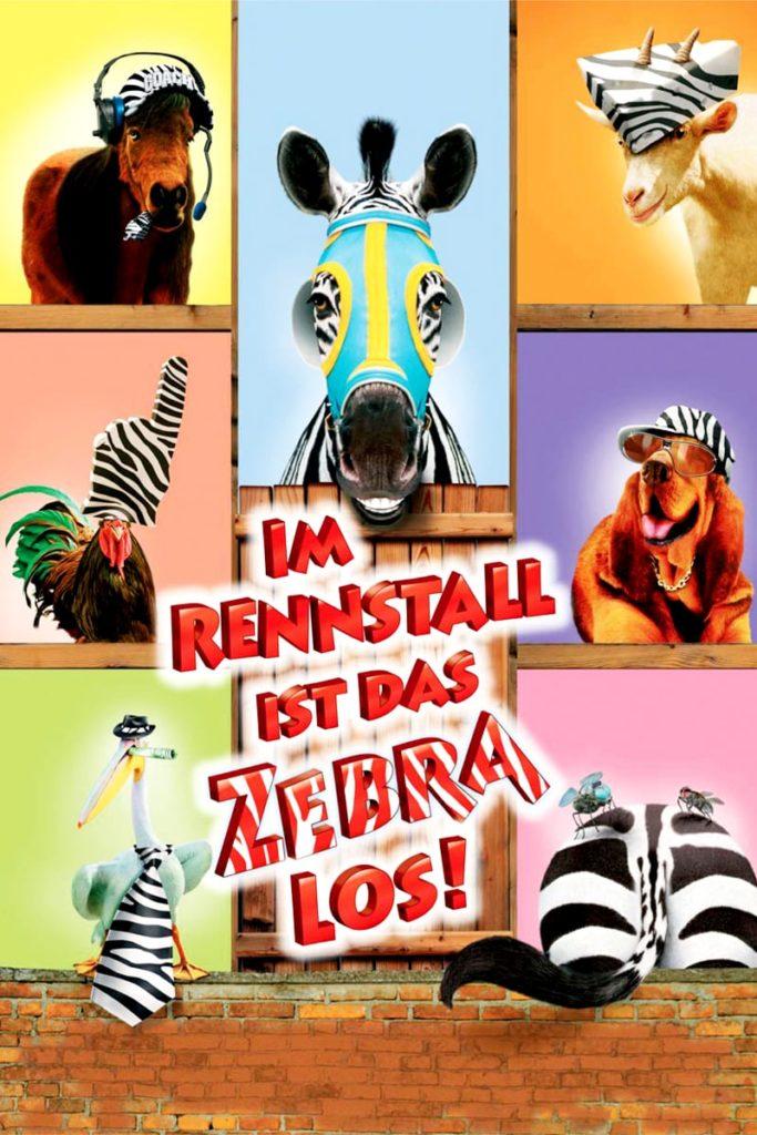 """Plakat von """"Im Rennstall ist das Zebra los"""""""