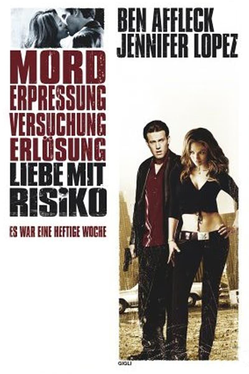 """Plakat von """"Liebe mit Risiko - Gigli"""""""