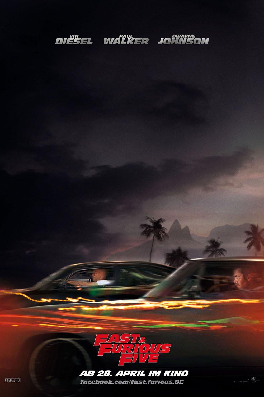 """Plakat von """"Fast & Furious Five"""""""