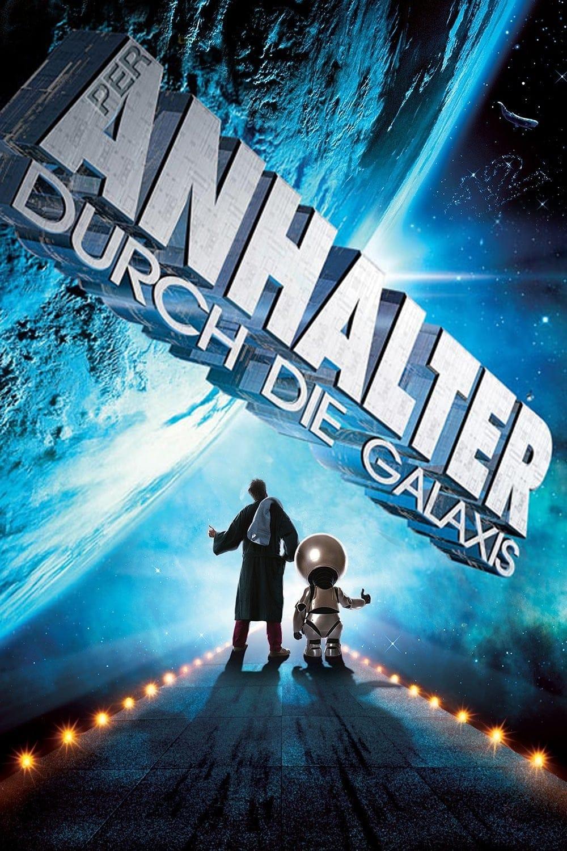 """Plakat von """"Per Anhalter durch die Galaxis"""""""