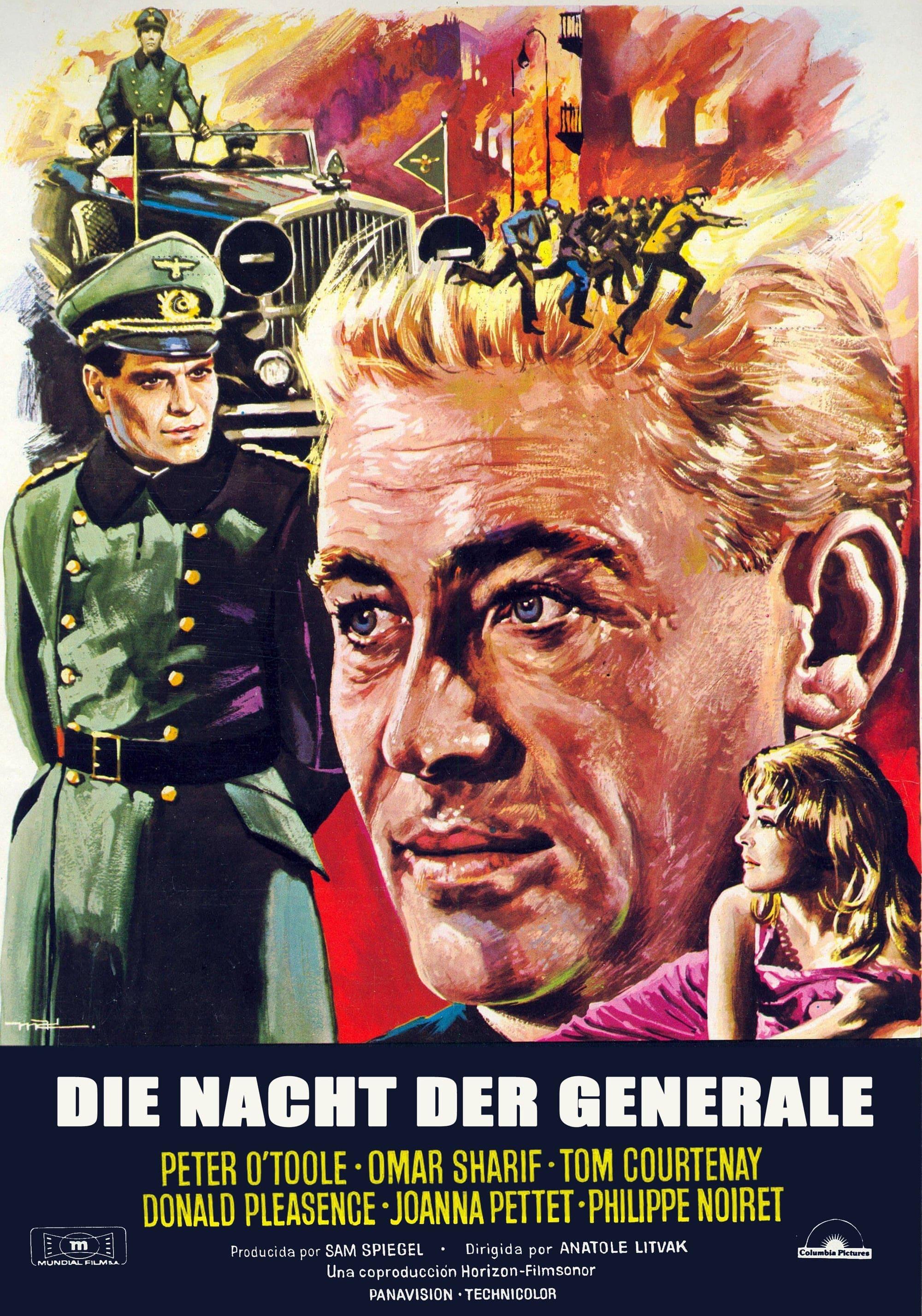 """Plakat von """"Die Nacht der Generale"""""""
