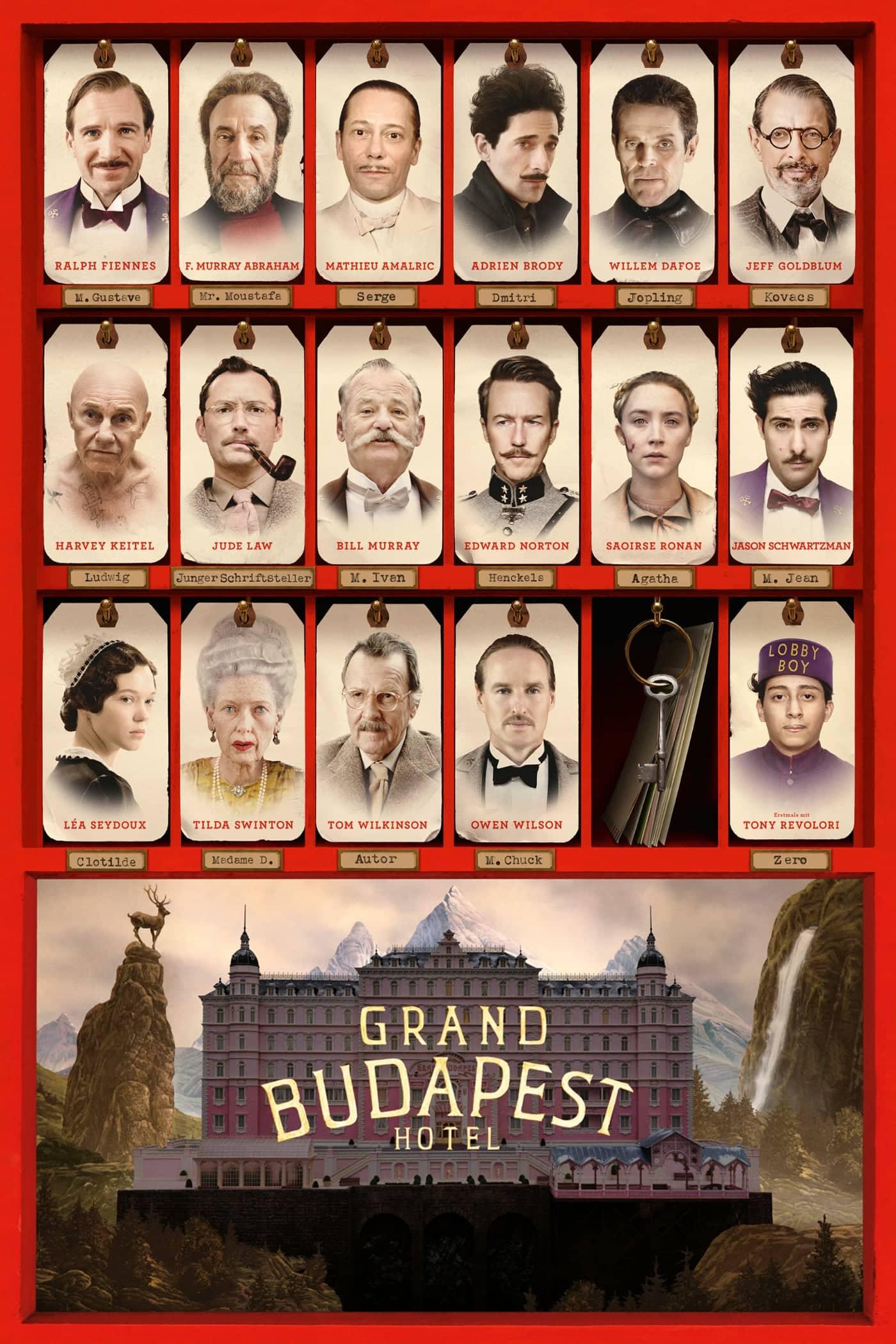 """Plakat von """"Grand Budapest Hotel"""""""