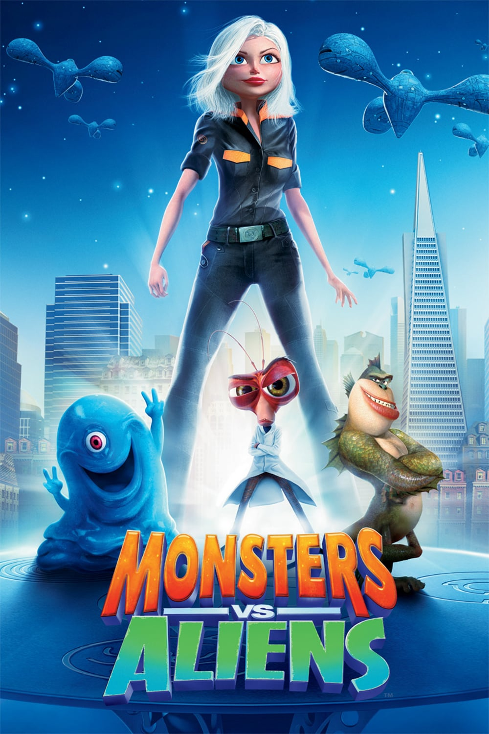 "Plakat von ""Monsters vs Aliens"""