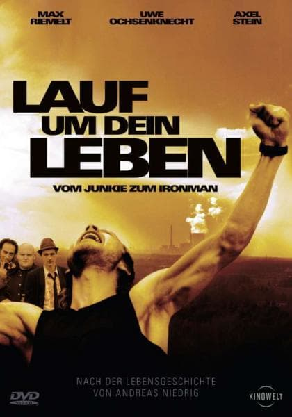 """Plakat von """"Lauf um Dein Leben - Vom Junkie zum Ironman"""""""