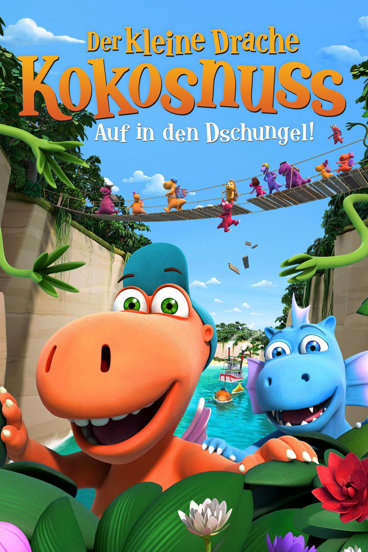 """Plakat von """"Der kleine Drache Kokosnuss 2 - Auf in den Dschungel!"""""""