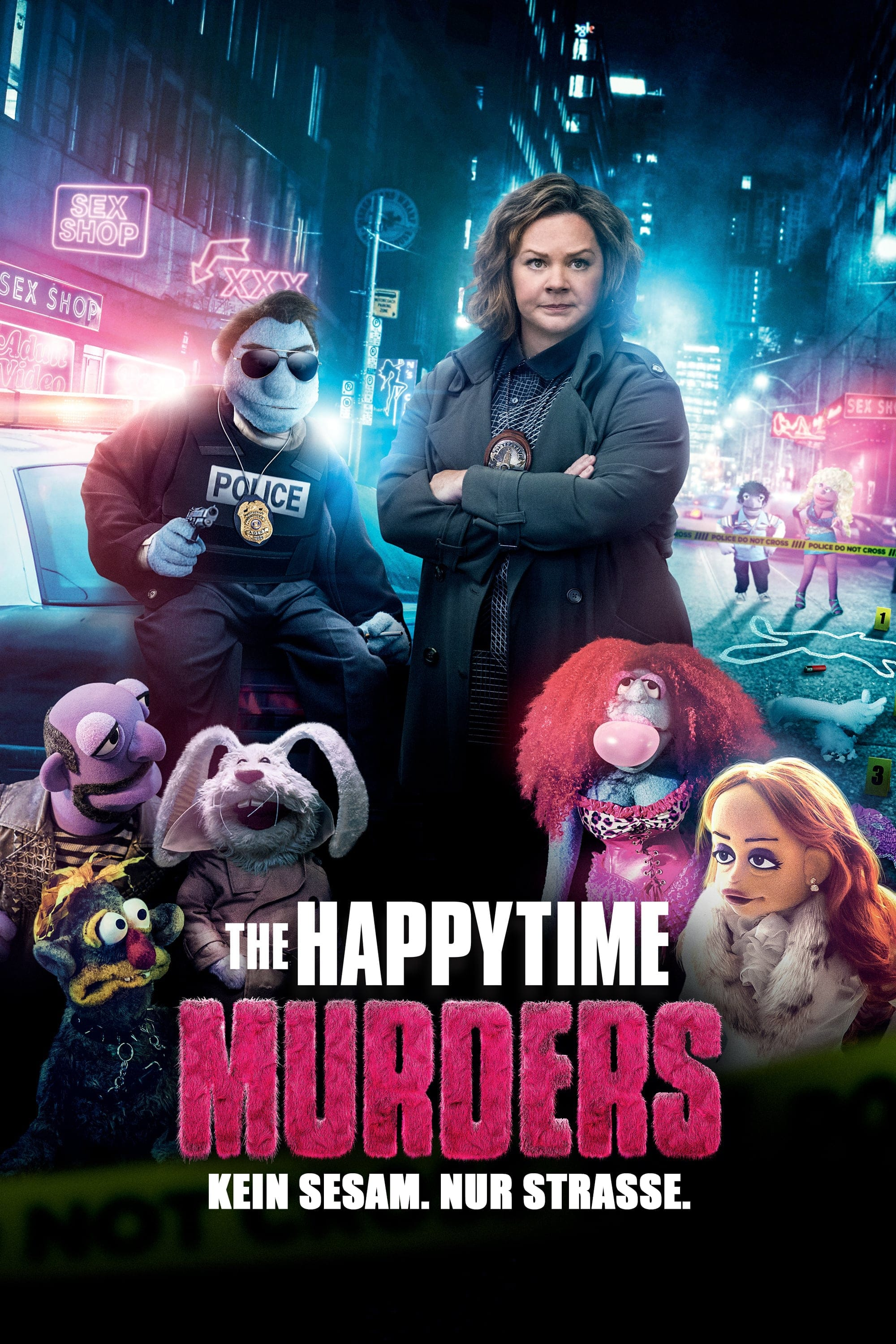 "Plakat von ""The Happytime Murders"""