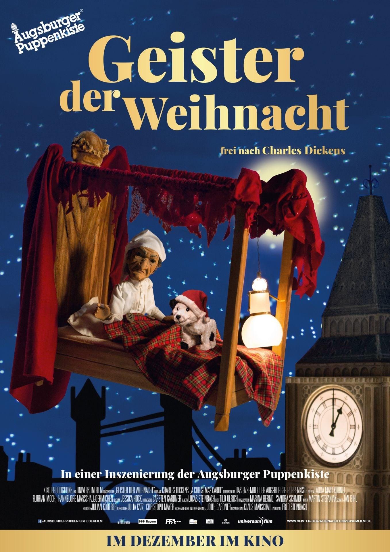 """Plakat von """"Geister der Weihnacht - Augsburger Puppenkiste"""""""