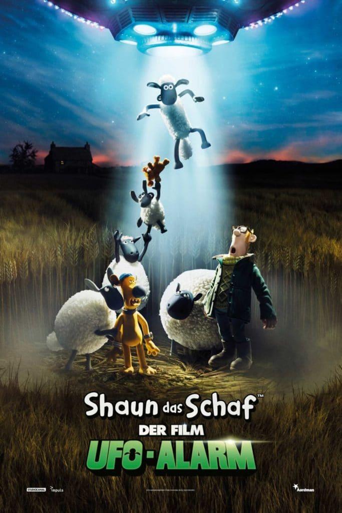 """Plakat von """"Shaun das Schaf - Der Film - Ufo-Alarm"""""""