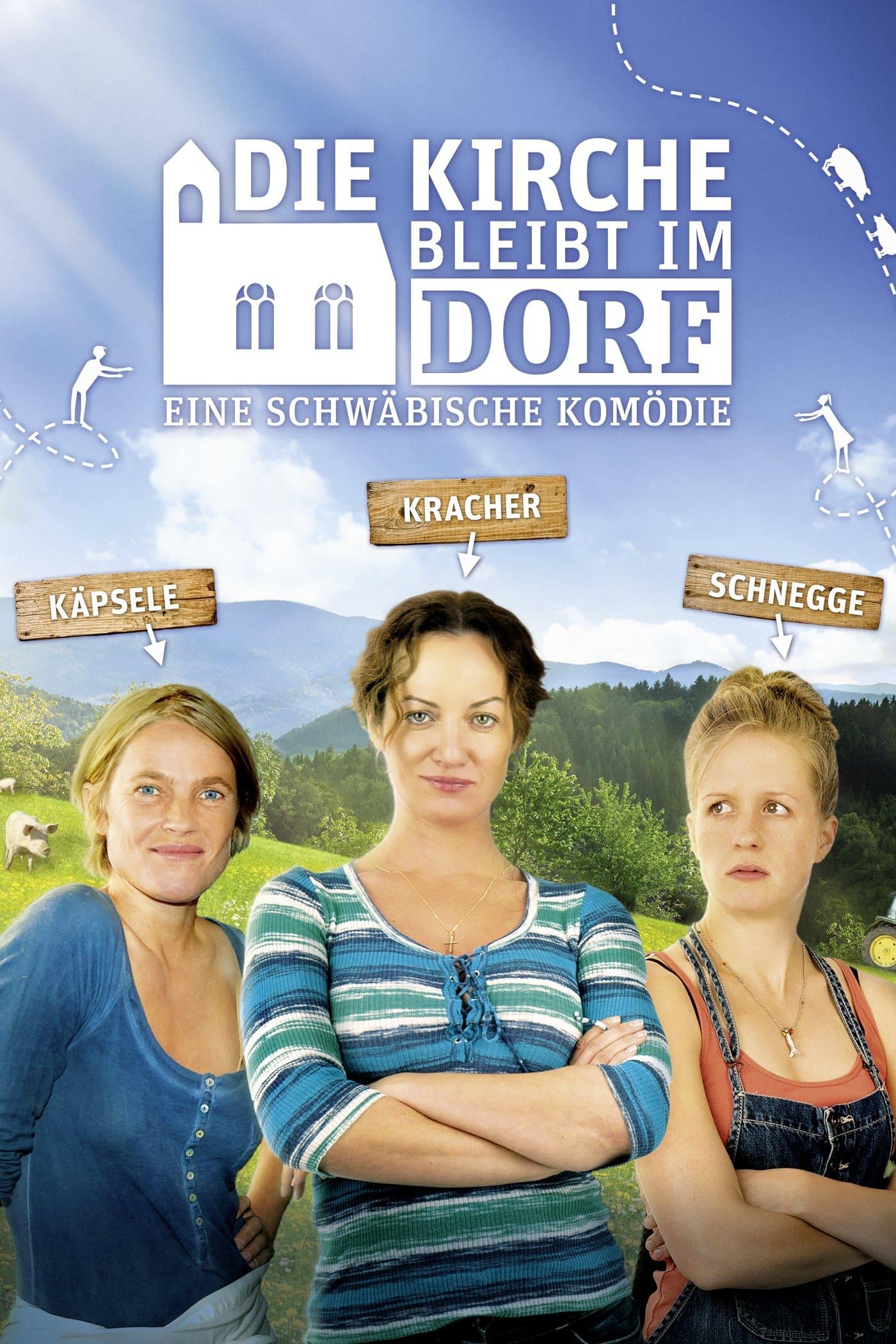 """Plakat von """"Die Kirche bleibt im Dorf"""""""