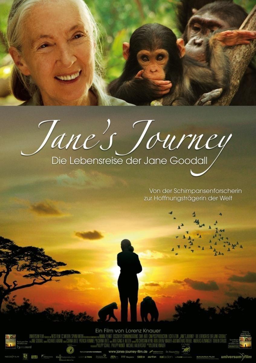 """Plakat von """"Jane's Journey - Die Lebensreise der Jane Goodall"""""""