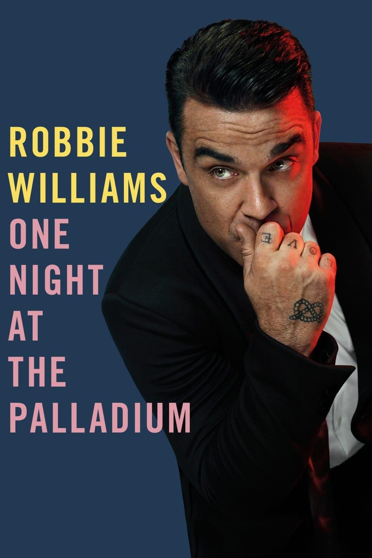 """Plakat von """"Robbie Williams - One Night at the Palladium"""""""