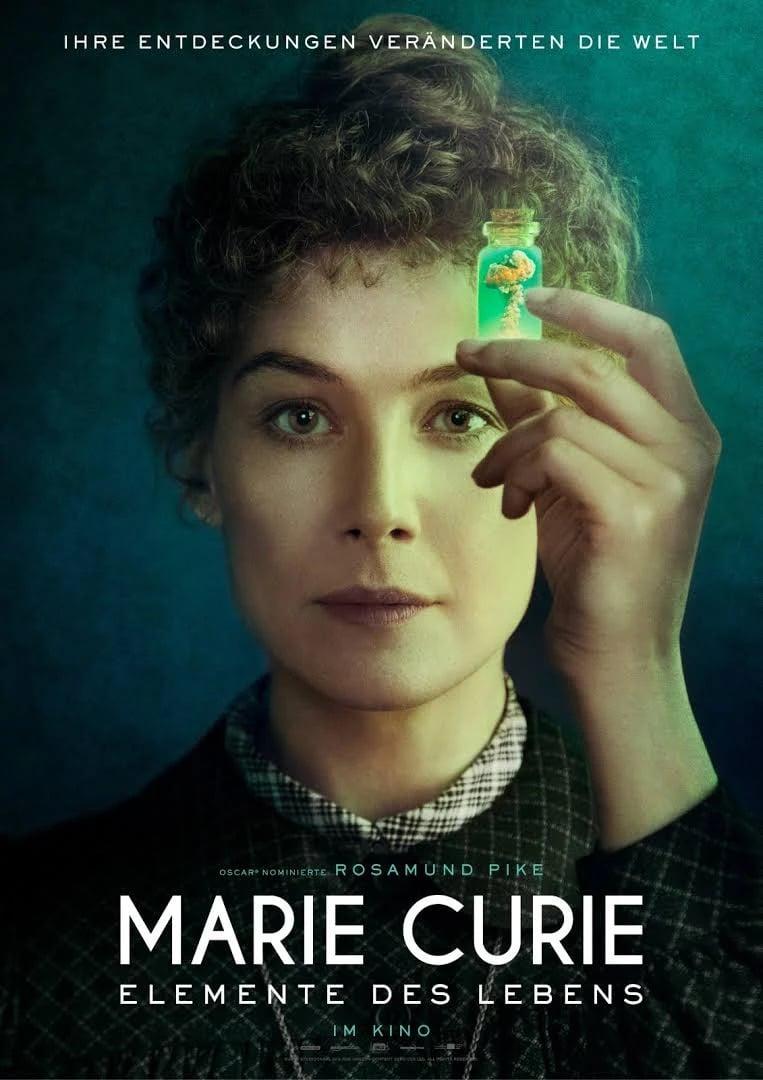 "Plakat von ""Marie Curie – Elemente des Lebens"""
