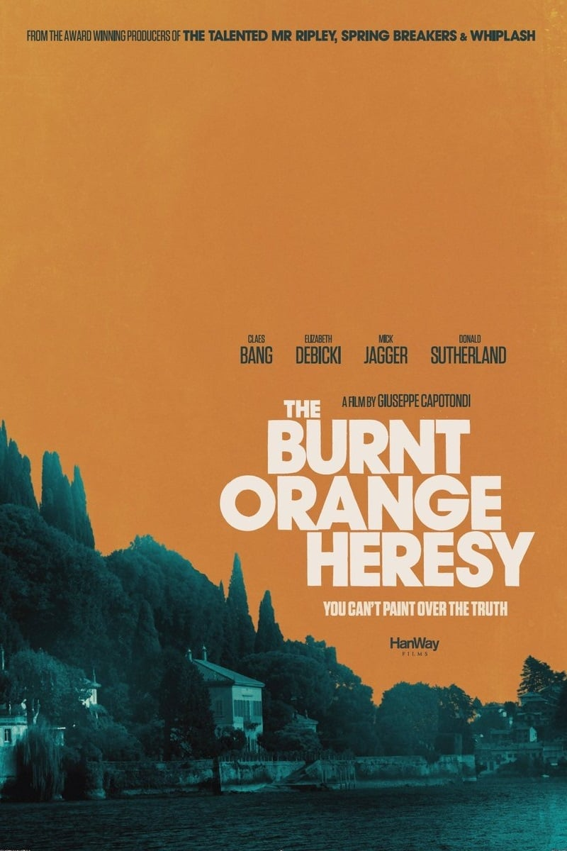 "Plakat von ""The Burnt Orange Heresy"""