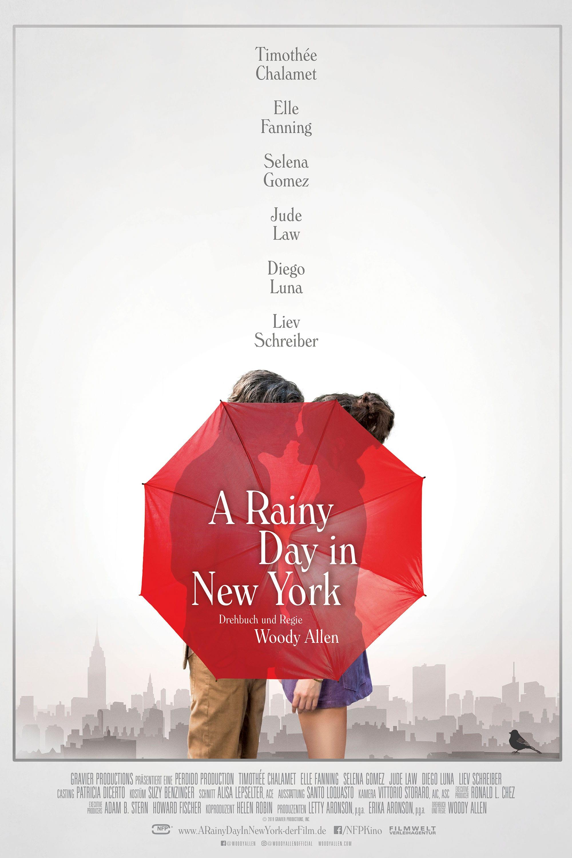"""Plakat von """"A Rainy Day in New York"""""""