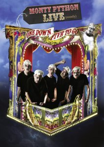 Plakat von Monty Python live (mostly)