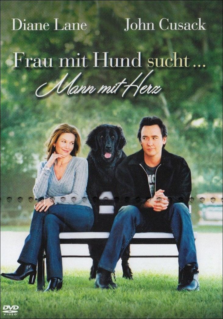"""Plakat von """"Frau mit Hund sucht Mann mit Herz"""""""