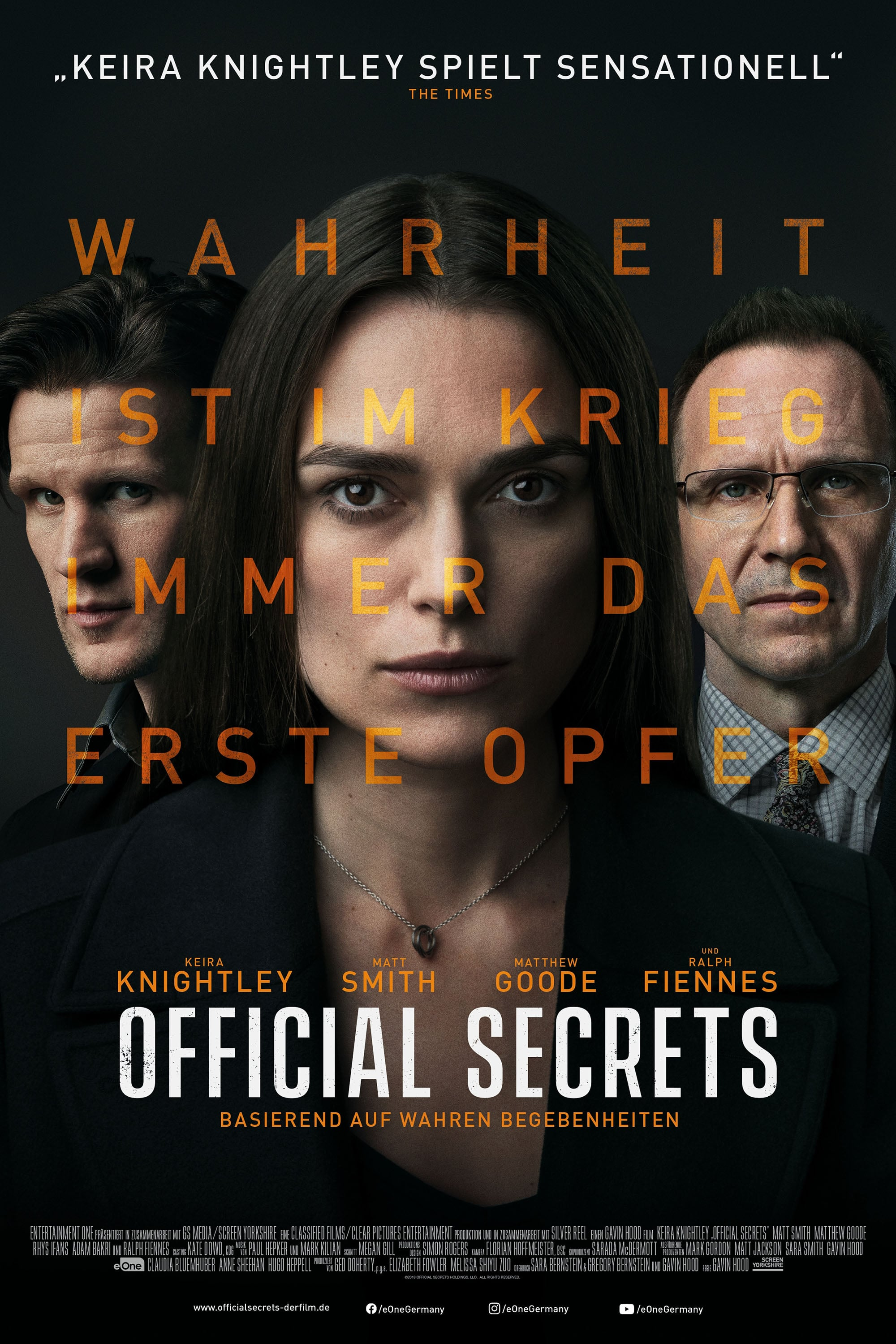 "Plakat von ""Official Secrets"""