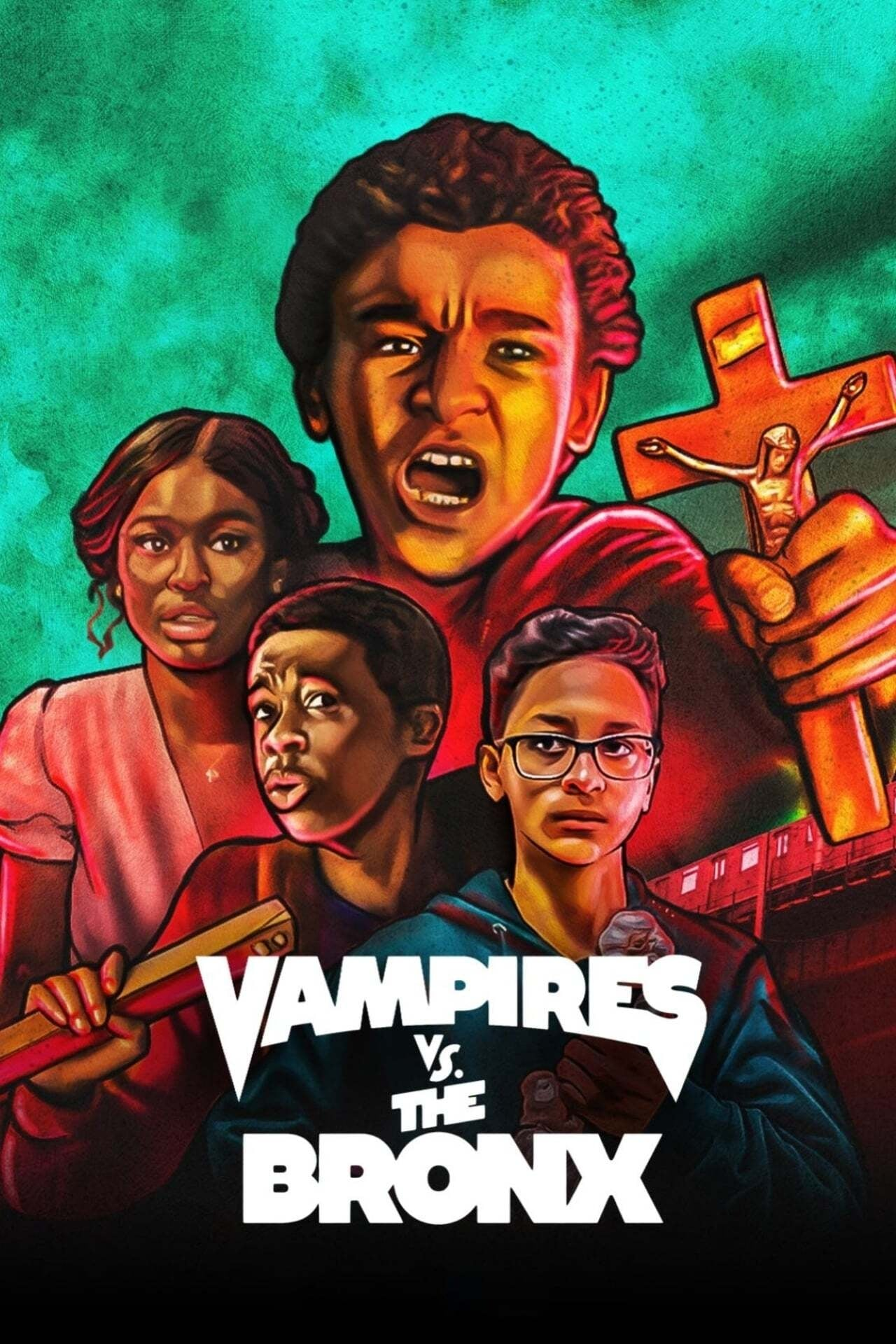 "Plakat von ""Vampires vs. the Bronx"""
