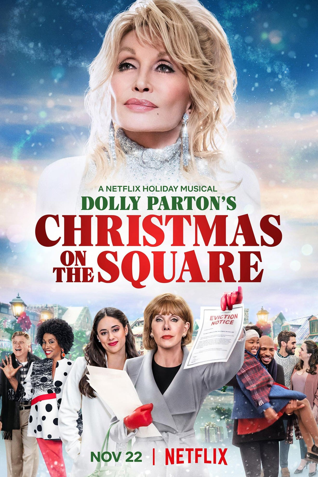 "Plakat von ""Dolly Parton's Christmas on the Square"""